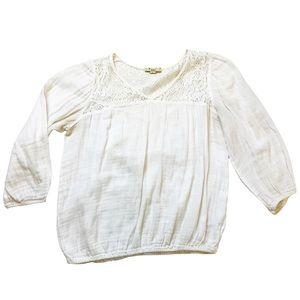 Forever 21 Peasant Blouse, Size L, Creamy White